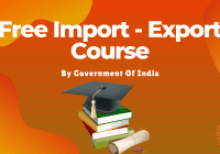 Free Import Export Course By Government Of India