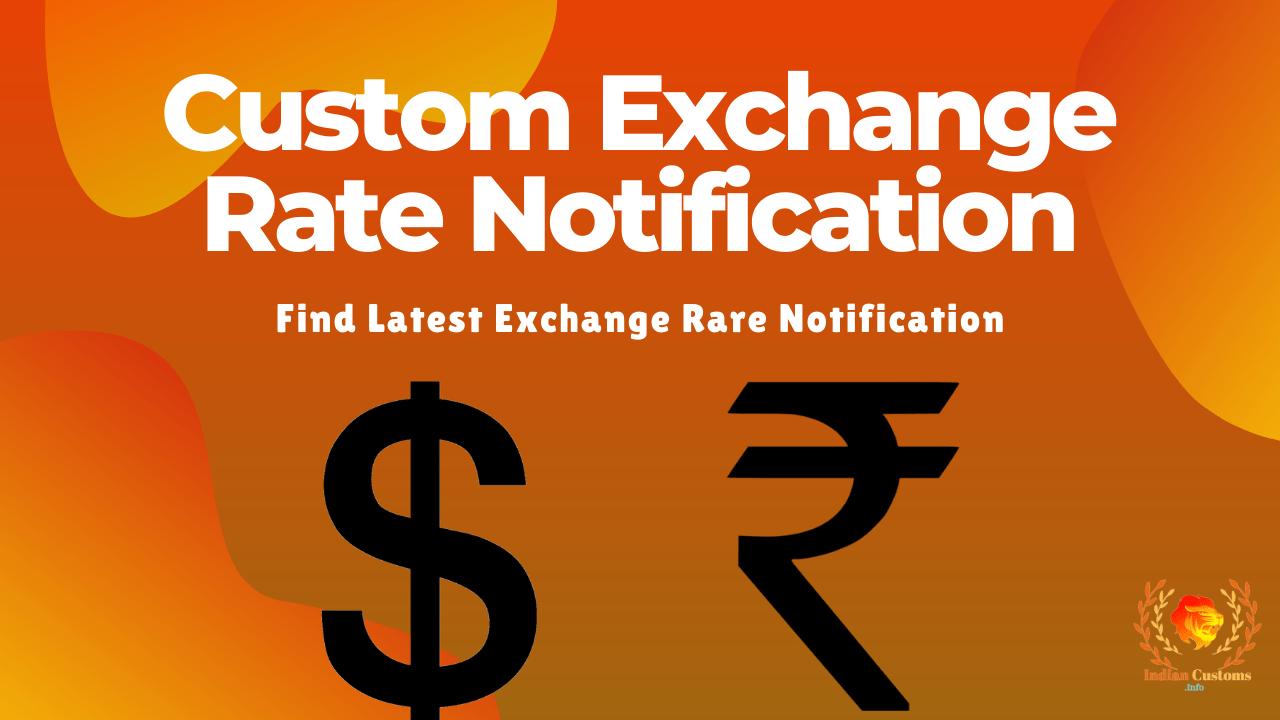 Custom Exchange Rate Notification