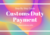 Online Custom Duty Payment