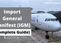 Import General Manifest (IGM Details)
