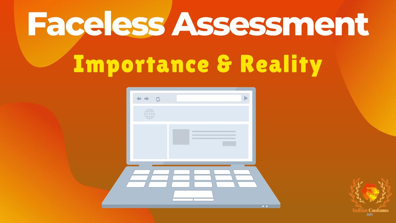 Faceless AssessmentFaceless AssessmentFaceless AssessmentFaceless Assessment